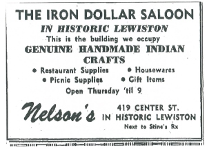 It appears the Iron Dollar was located at 419 Center Street.  This advertisement was in the Niagara Gazette in 1964.