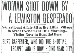 woman shot down by lewiston desperado